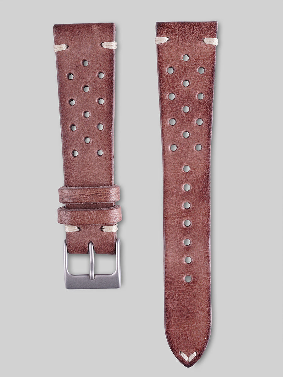Calfskin Rally Watch Strap - Mahogany