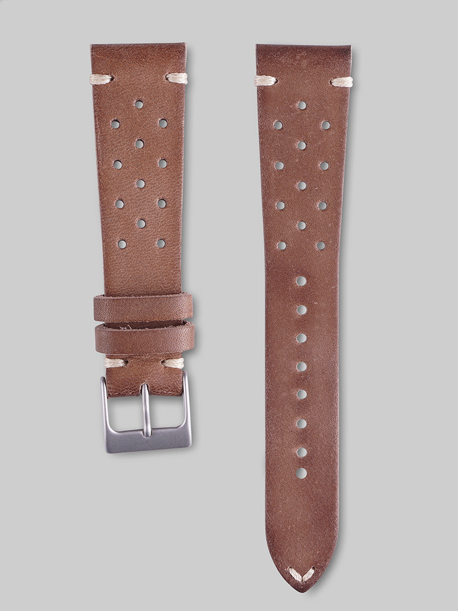 Calfskin Rally Watch Strap - Cedar