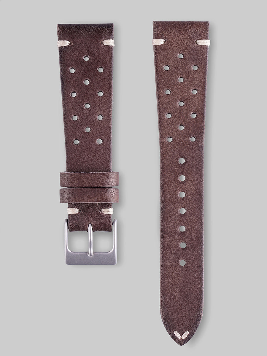Calfskin Rally Watch Strap - Walnut