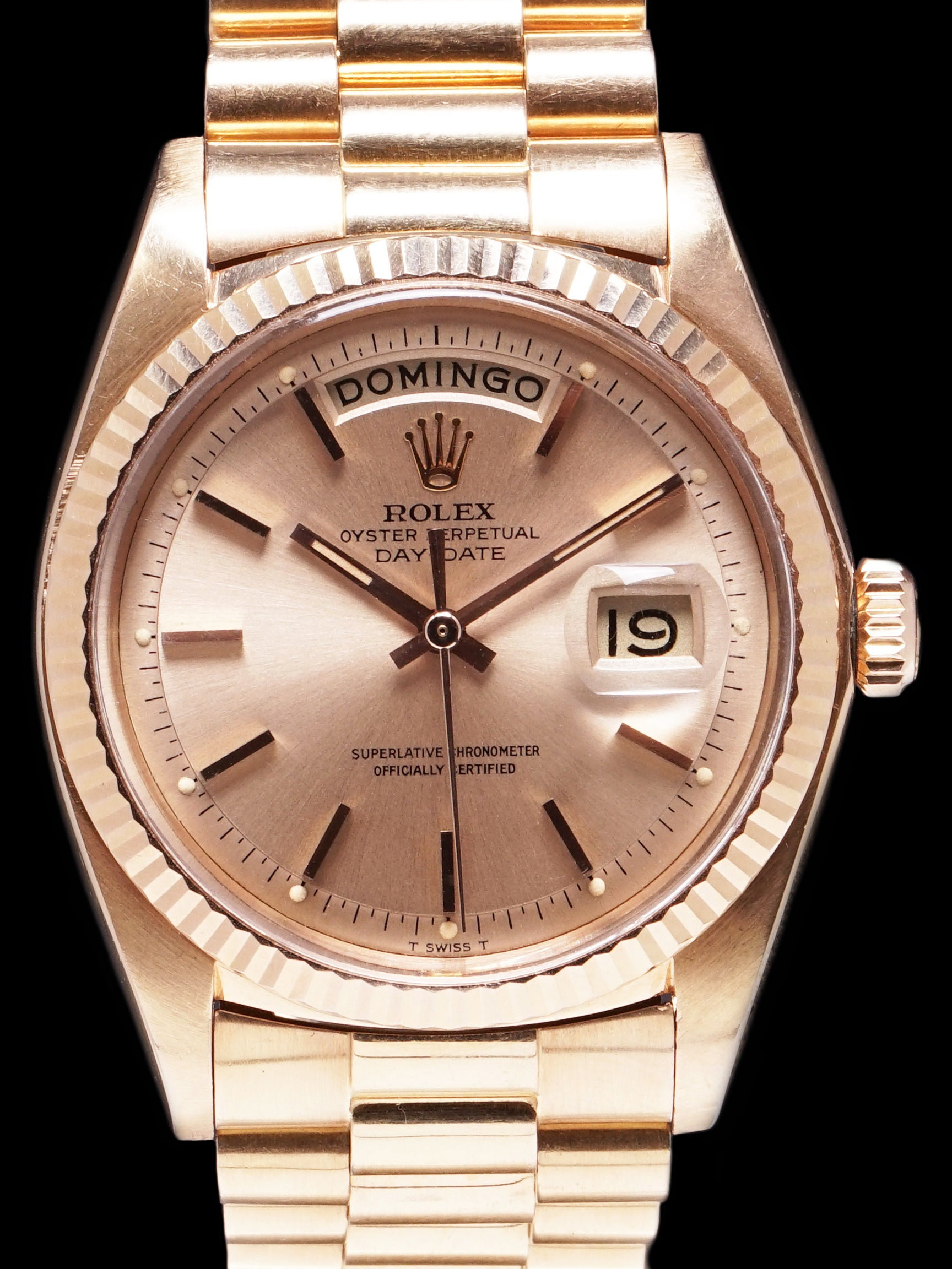 1974 Rolex Day-Date (Ref. 1803) 18K Rose Gold