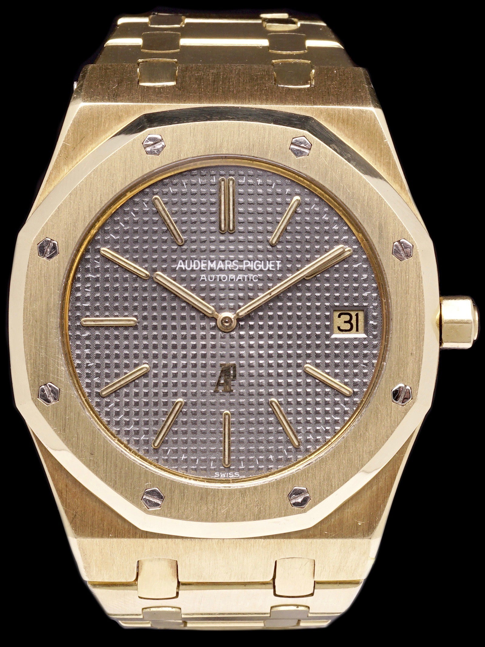 "Audemars Piguet Royal Oak 18K YG (Ref. 5402) ""Logo-Down"" Dial"