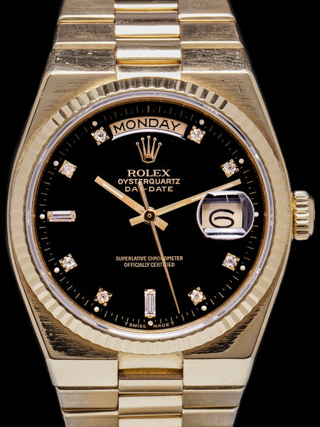 1979 Rolex Oysterquartz Day-Date (Ref. 19018) Factory Black Diamond Dial
