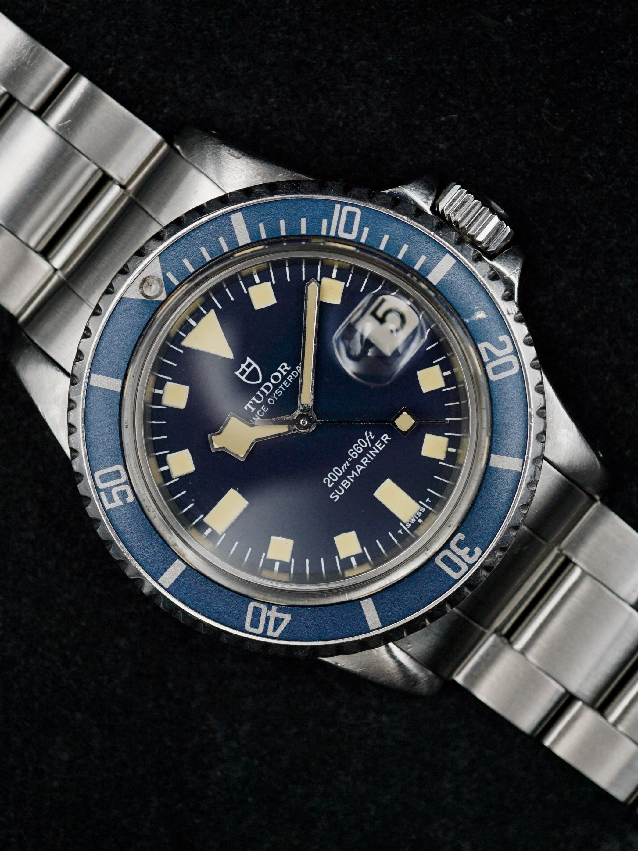 "1979 Tudor Submariner Ref. 94110 Blue ""Snowflake"""