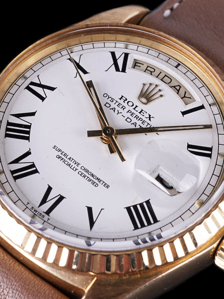 "1977 Rolex 18k YG Day-Date (Ref. 1803) ""Buckley Dial"""
