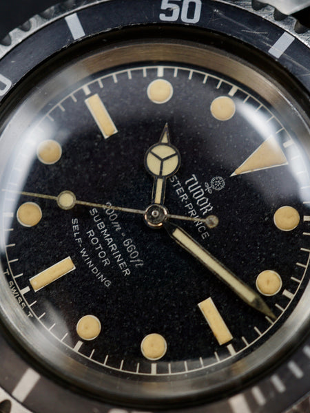 "1965 Tudor Submariner Gilt Chapter Ring Dial  (Ref. 7928) ""Faded Insert"""