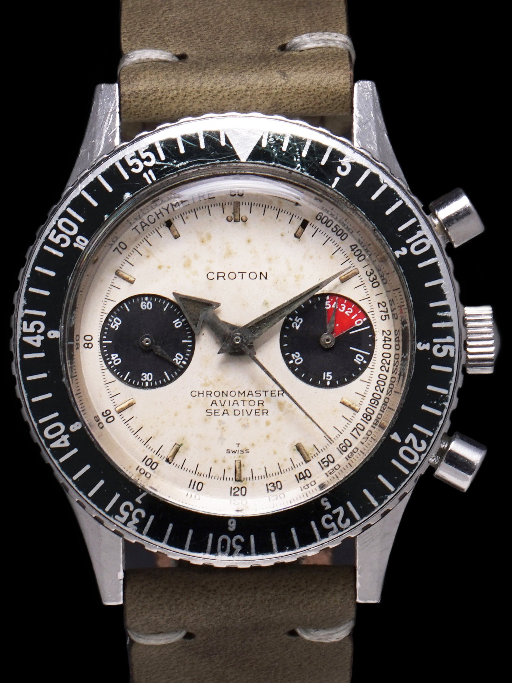 "Croton Aviator Sea Diver Chronograph ""White Dial"""