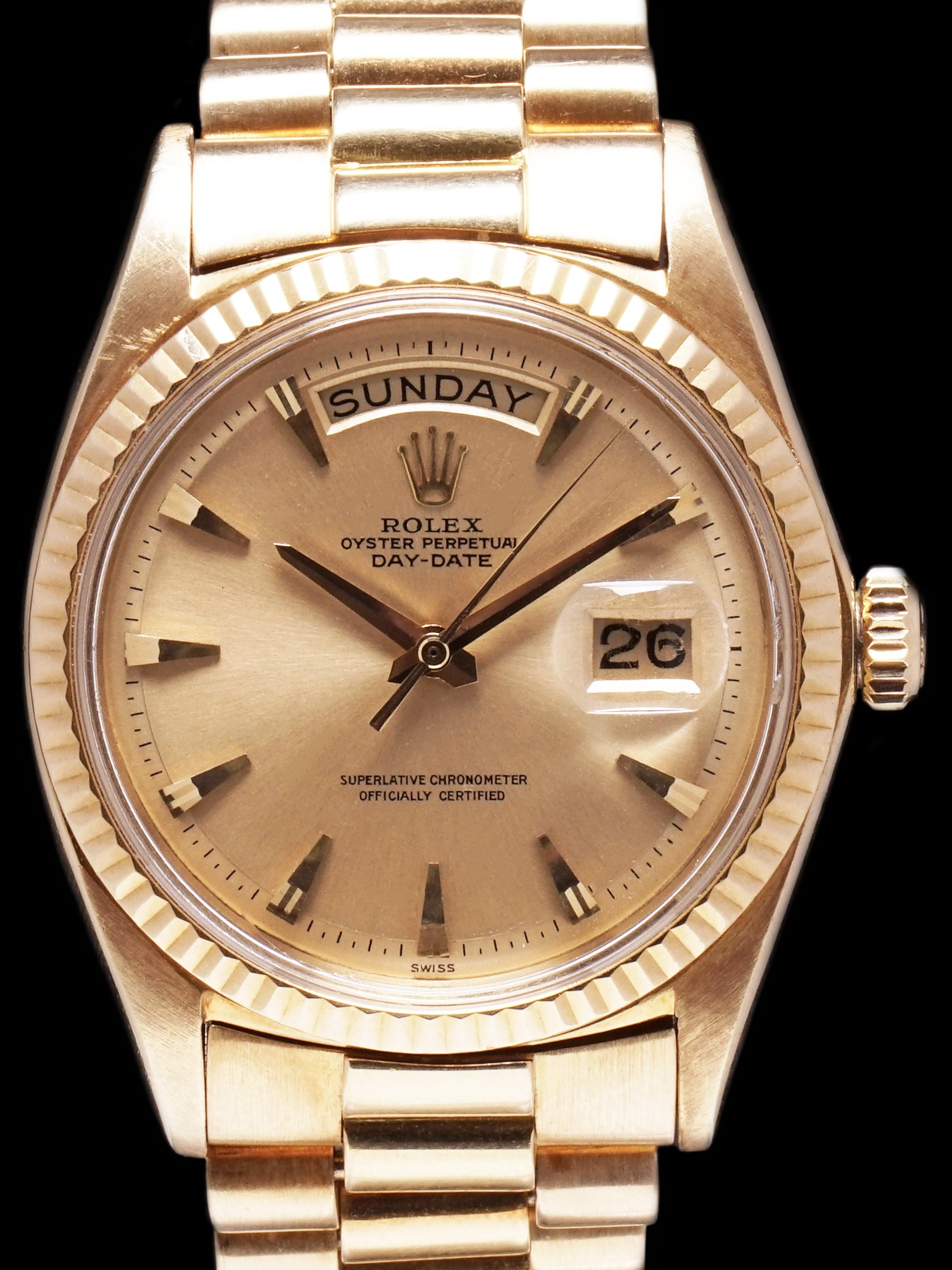 "1963 Rolex Day-Date (Ref. 1803) 18k YG No-Lume ""Claw Dial"""