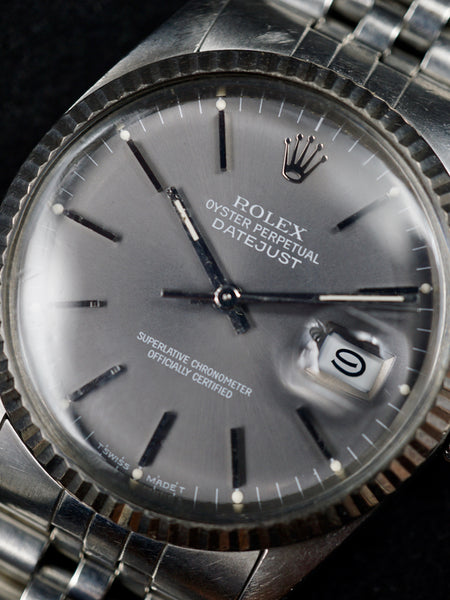 1985 Rolex Datejust (Ref. 16014) Grey Dial