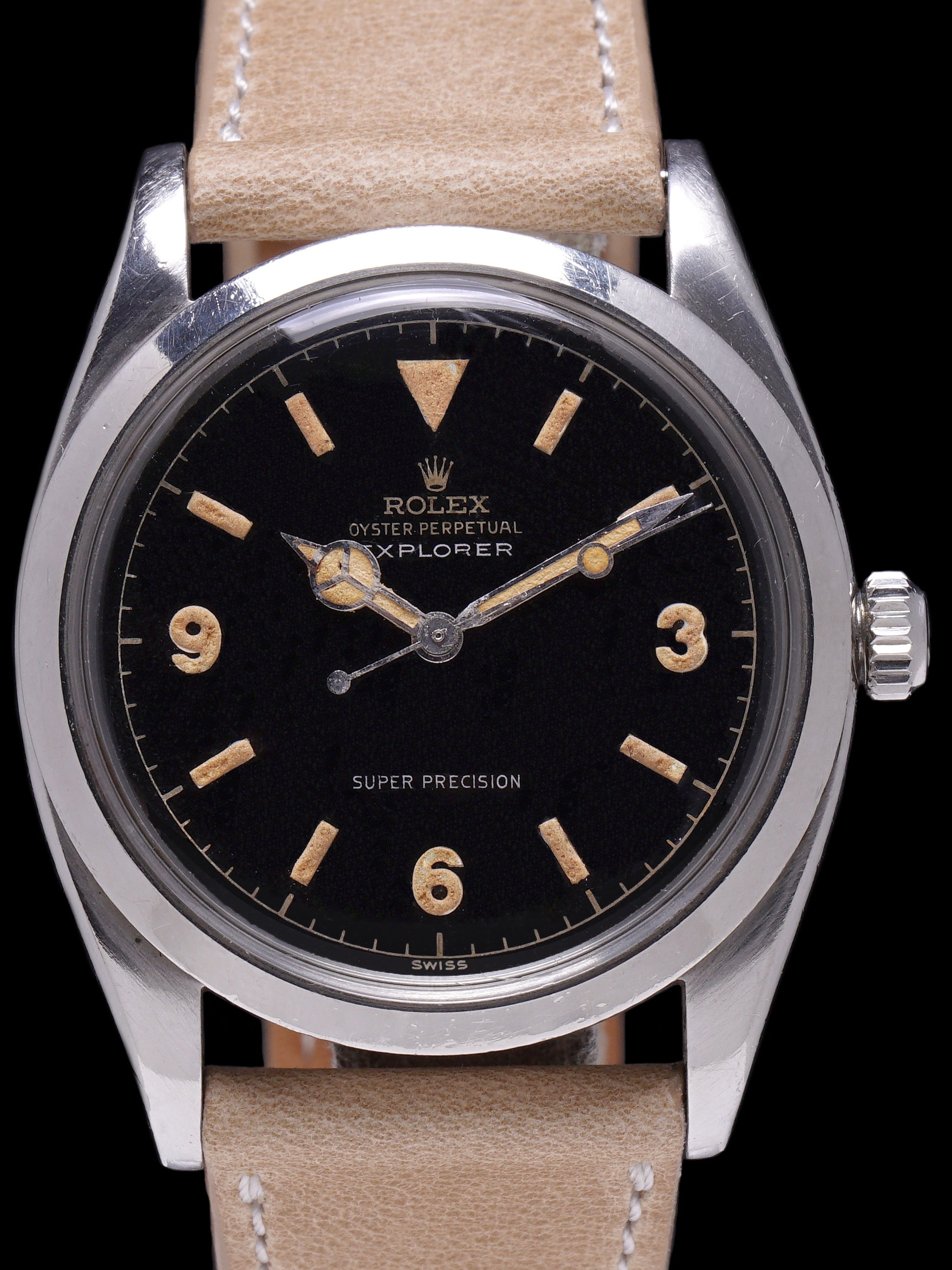 1958 Rolex Super Precision Explorer (Ref. 5504) Gilt Chapter Ring