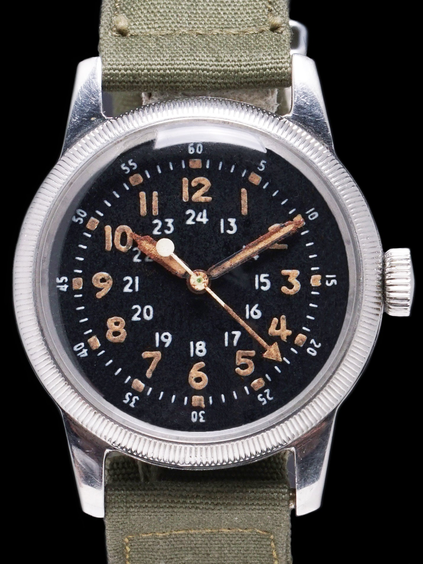 "1950s Waltham Type A-17 Pilots Watch ""Korean War Era"" U.S Military Issued"