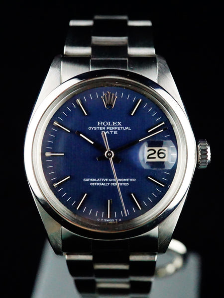 1970 Rolex Oyster Perpetual Date (Ref. 1500) Blue Dial