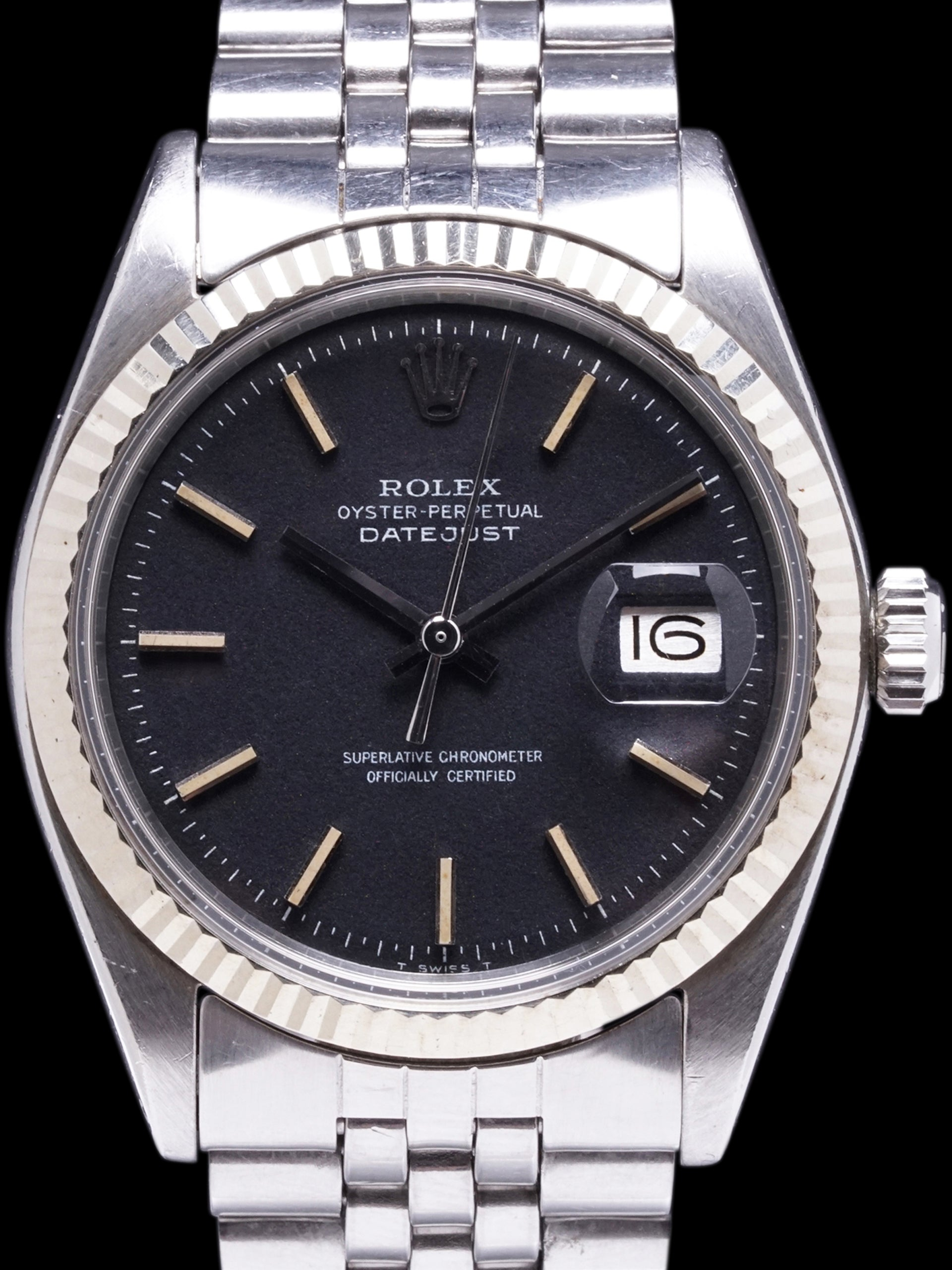 "1971 Rolex Datejust (Ref. 1601) Non-Luminous Black ""Confetti Dial"""