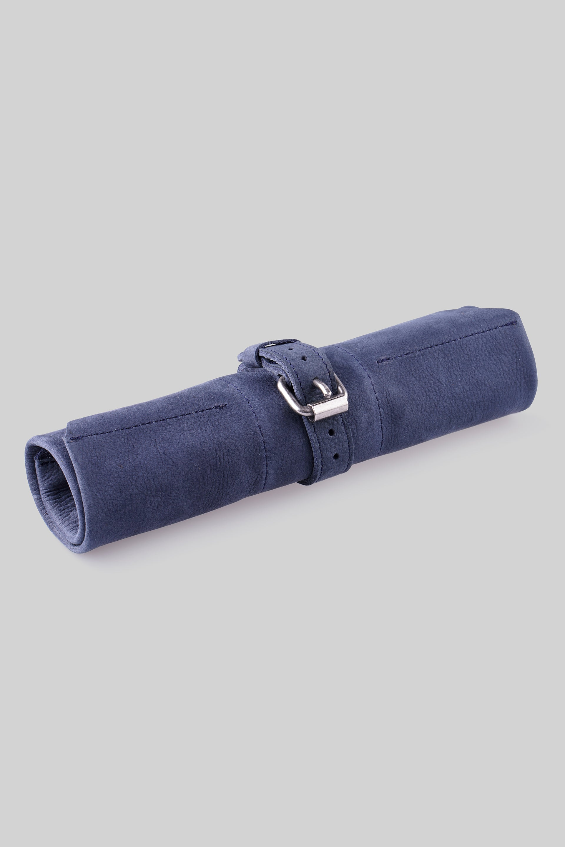 Leather Watch Roll - Navy