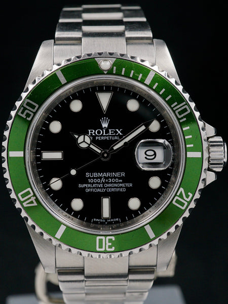 "2007 Rolex Green Submariner (Ref. 16610LV) ""Mk. V"" With Warranty Card"
