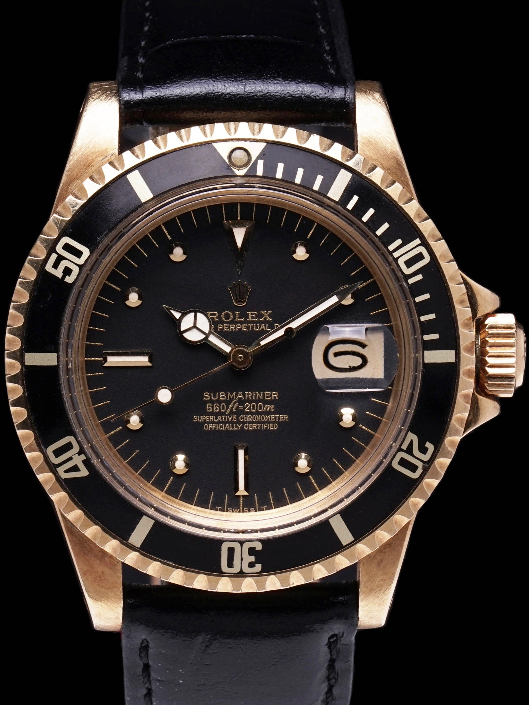 1973 Rolex Submariner Ref. 1680 18k YG
