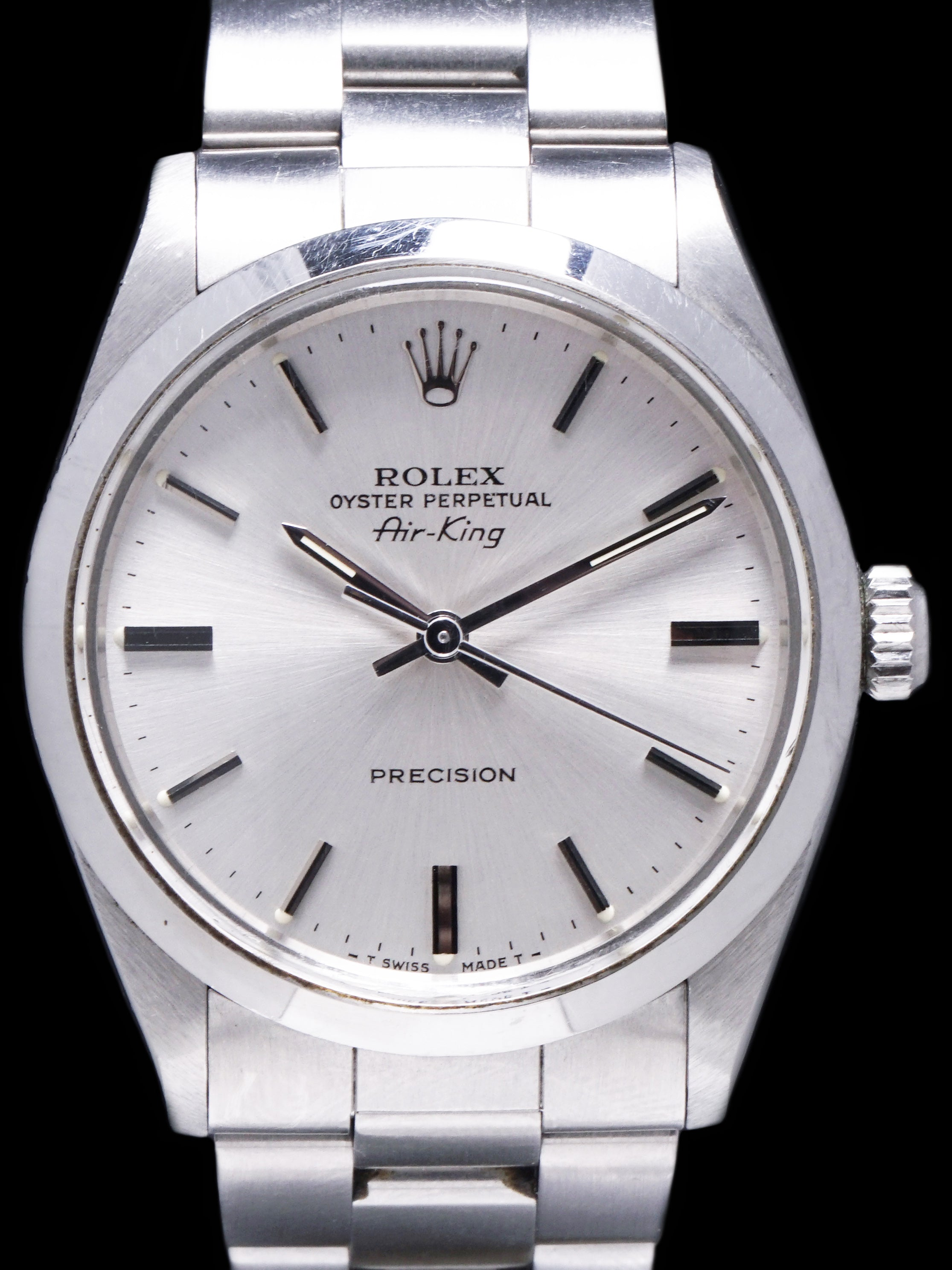 Unpolished 1989 Rolex Air-King (Ref.5500) W/ Papers