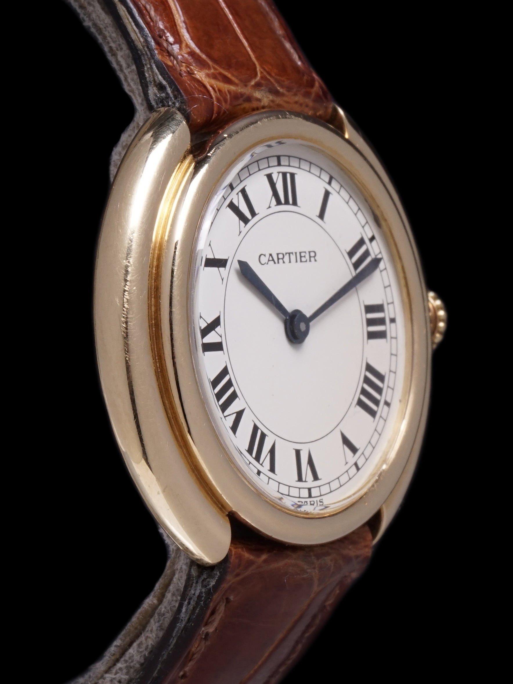 "1980s Cartier Tank Vendome Paris 18k YG ""Manual"""