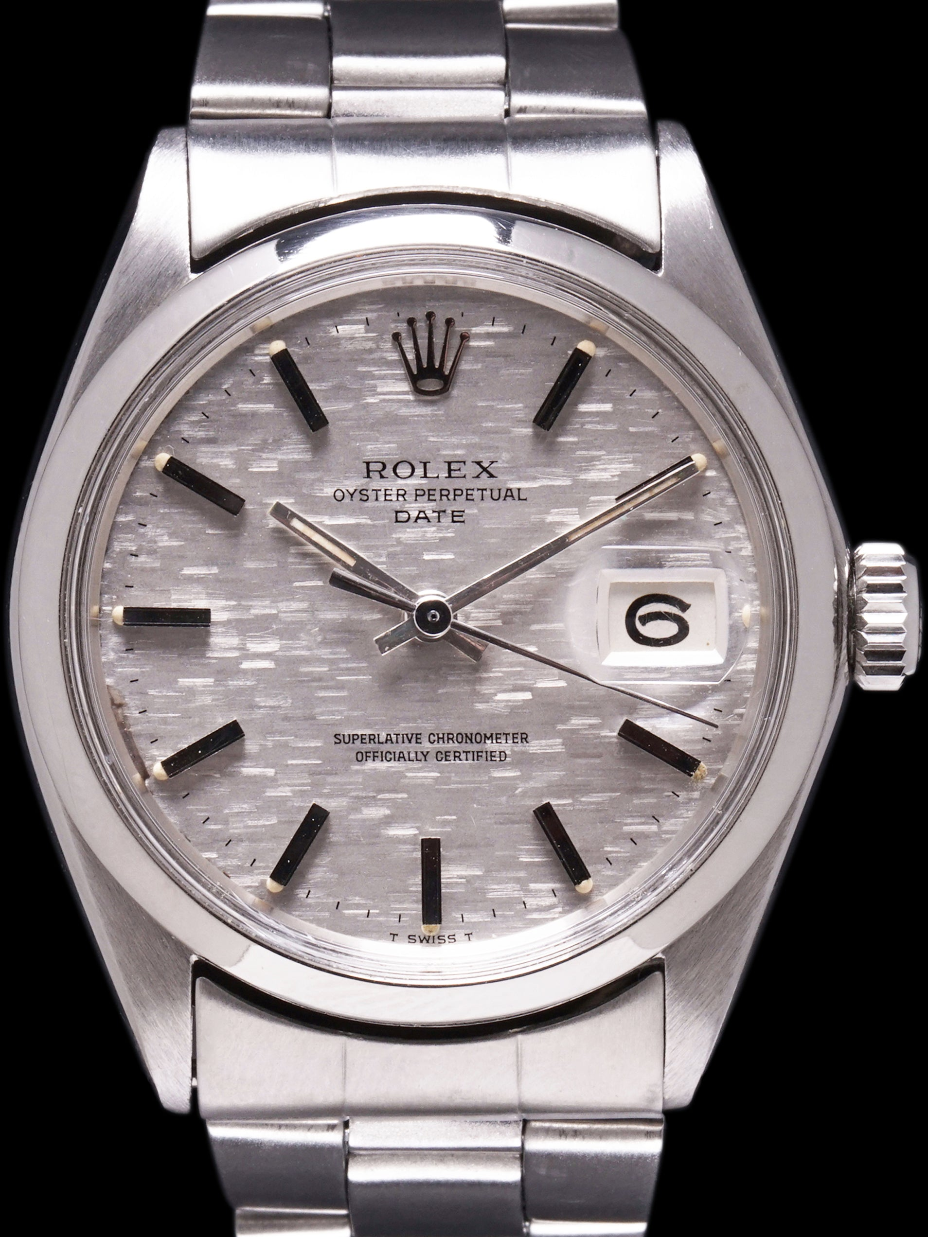 1970 Rolex Oyster-Perpetual Date (Ref. 1500) Silver Mosaic Dial