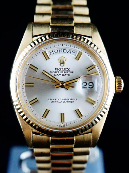 "1970 Rolex Day Date ""Wide Boy"" (Ref. 1803) 18k YG"