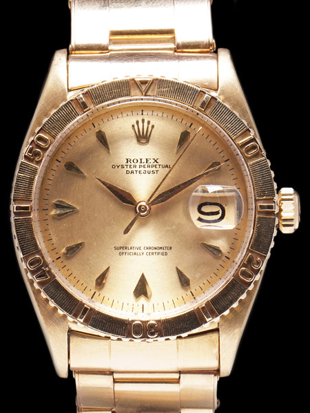 "1958 Rolex Datejust Turn-O-Graph (Ref. 6609) 18K YG ""Thunderbird"""