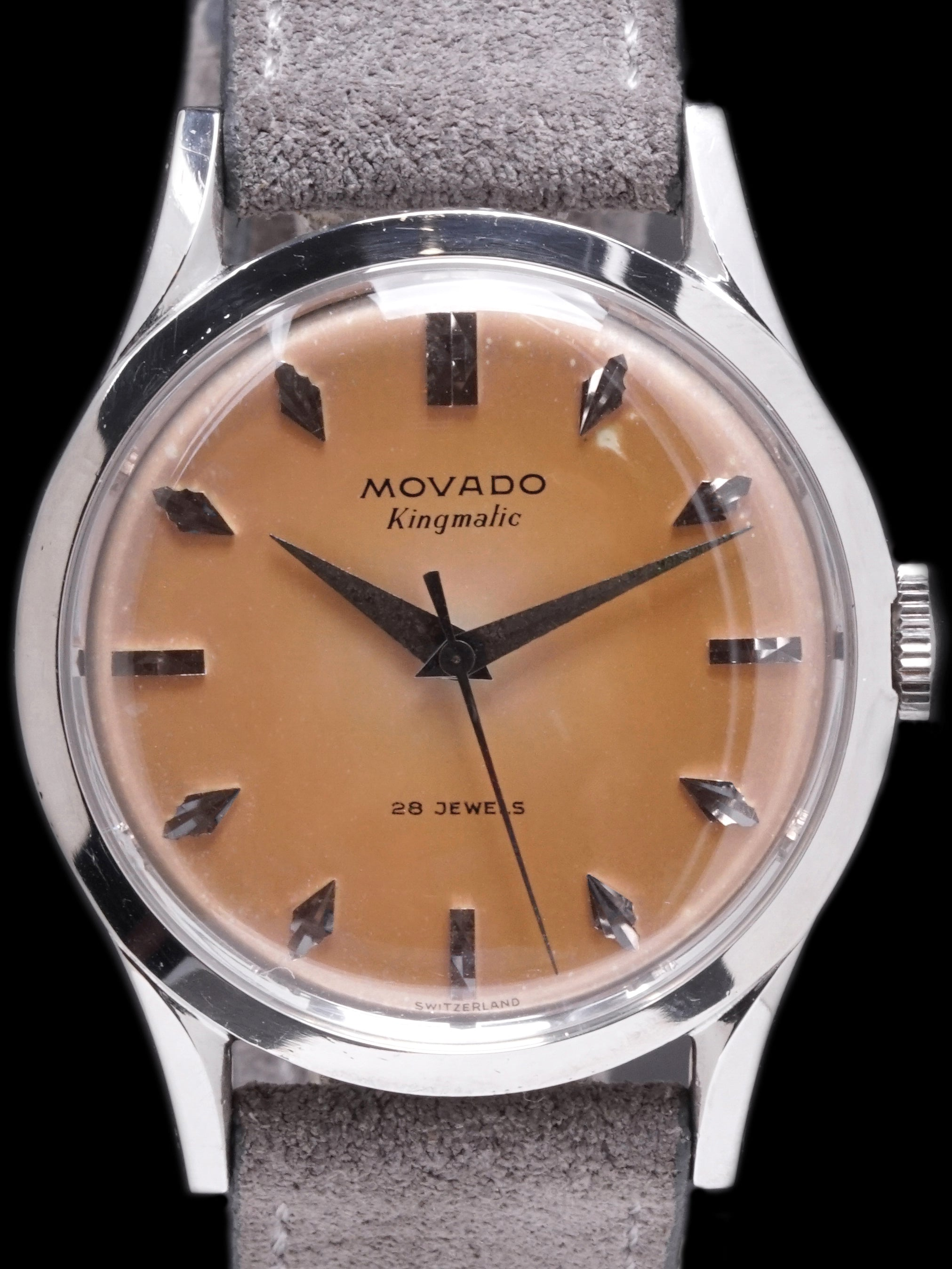 "Tropical 1950s Movado Kingmatic (Ref. 11179) ""Fancy Markers"""