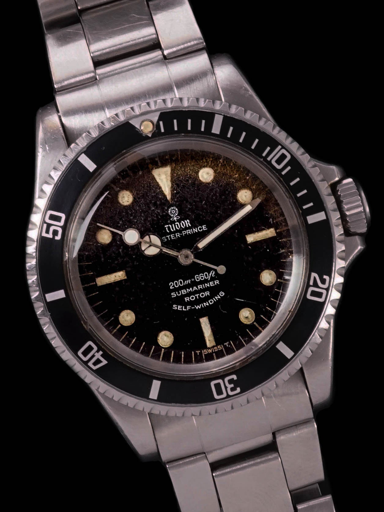 "Tropical 1967 Tudor Submariner Gilt (Ref. 7928/0) ""Lollipop"""