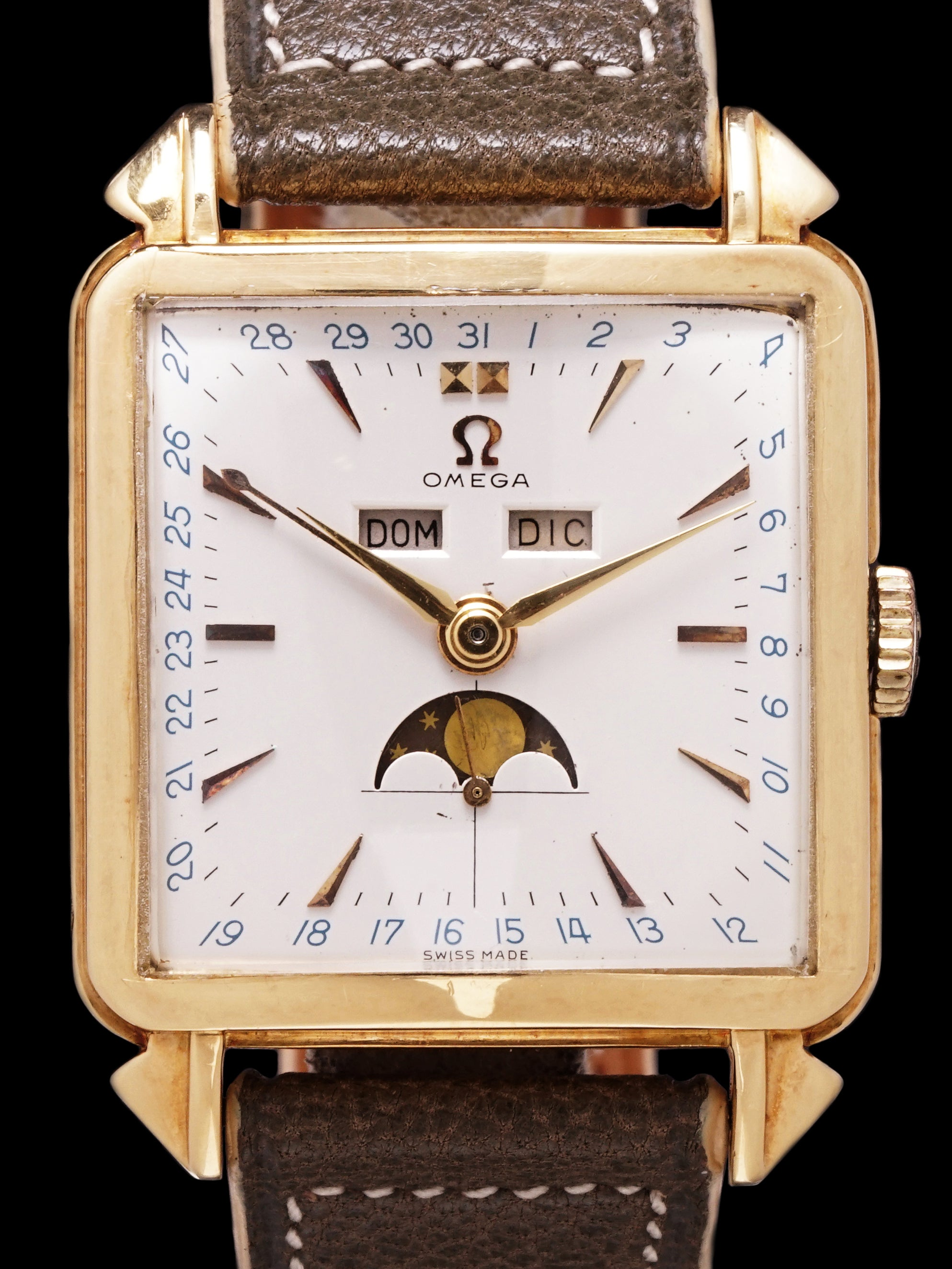 1947 Omega Cosmic Triple Date Moonphase (Ref. 3944) 18k YG