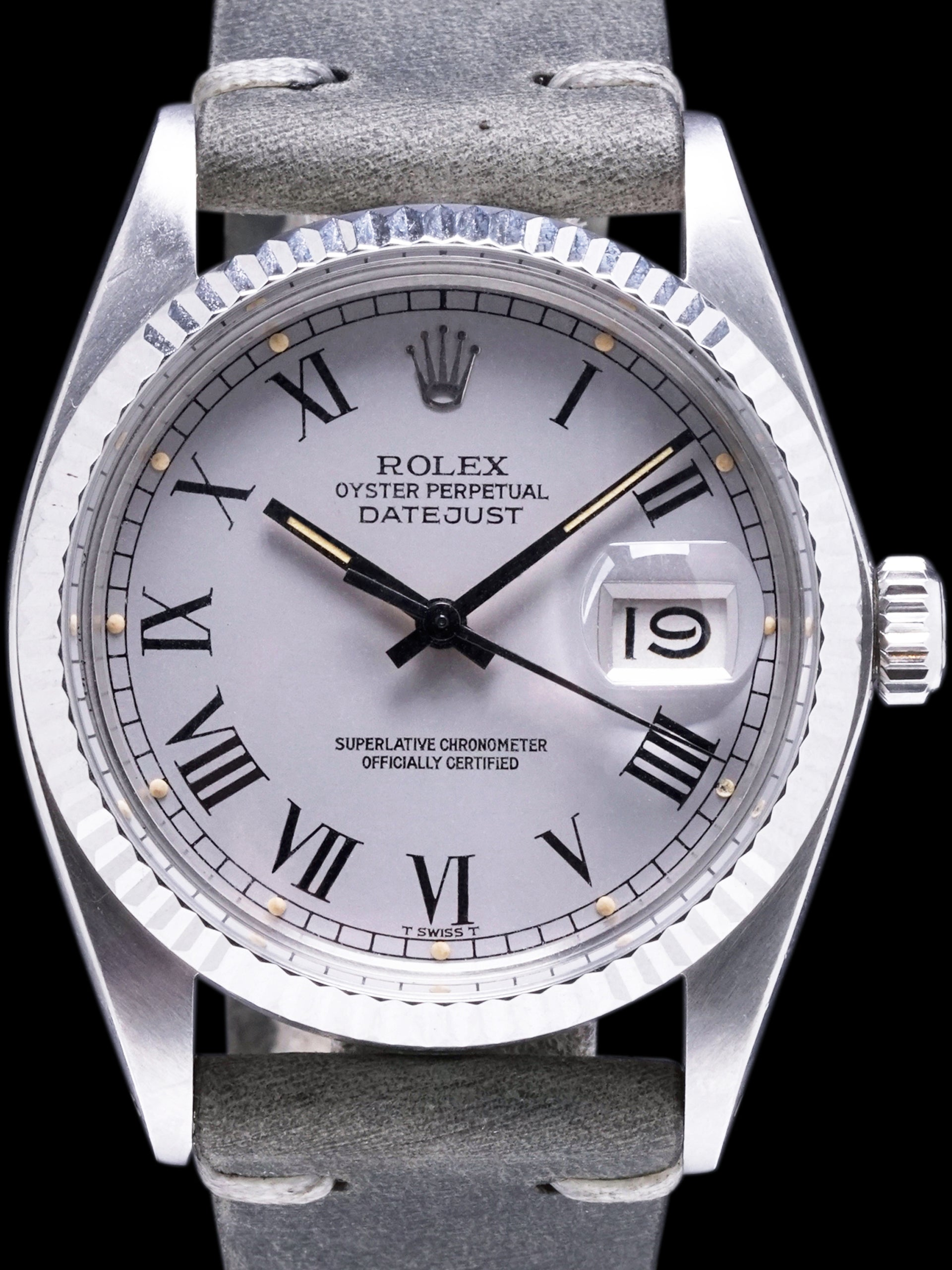 "1985 Rolex Datejust (Ref. 16014) Grey ""Buckley Dial"""