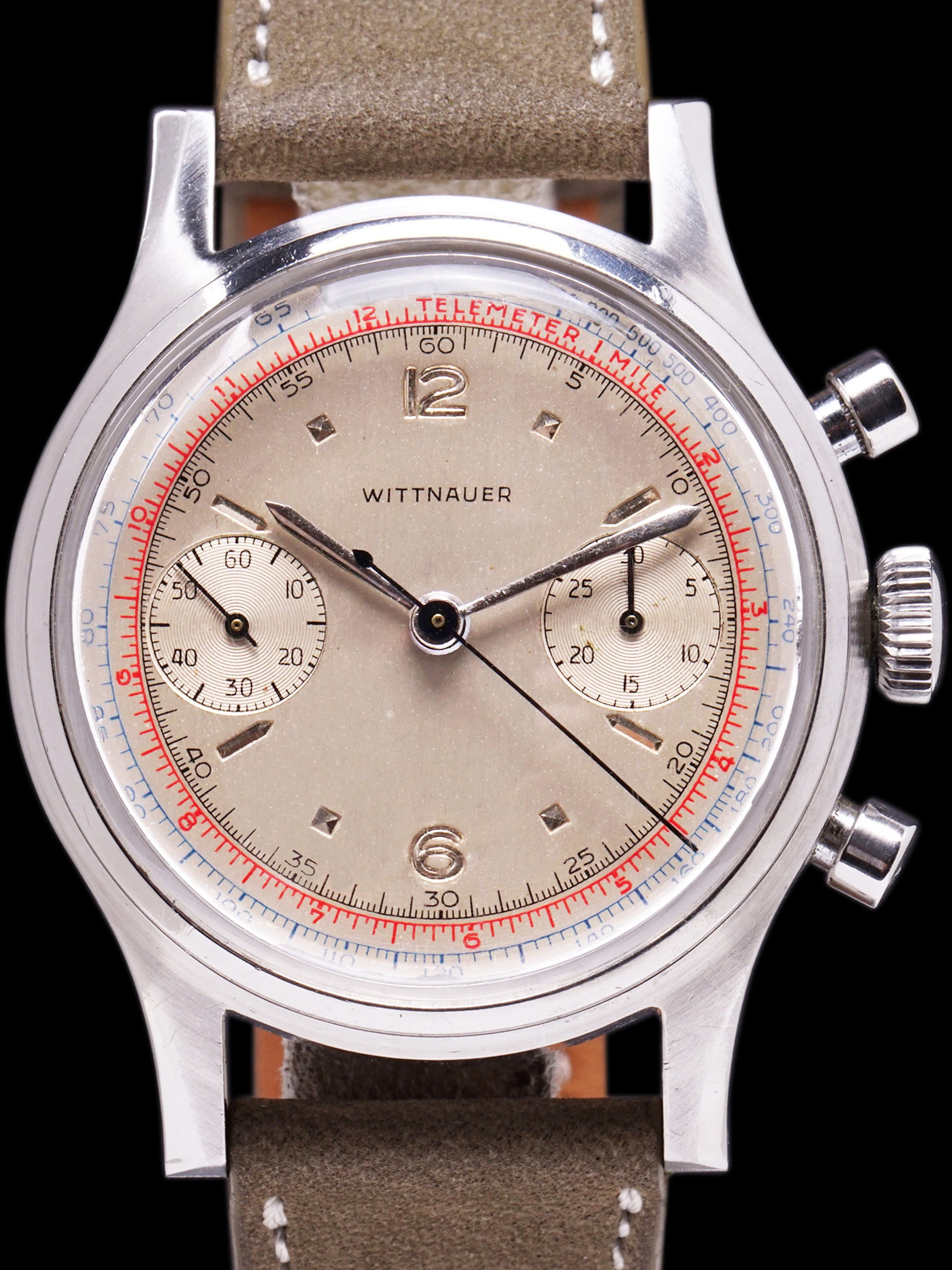 1953 Wittnauer Chronograph (Ref. 3256) Previously Owned by Clint Brawner, Chief Mechanic of the 1953 Indy 500 Winning Pole Car, Driven by Bill Vukovich