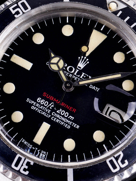 1973 Rolex Red Submariner (Ref. 1680) Mk. VI Dial