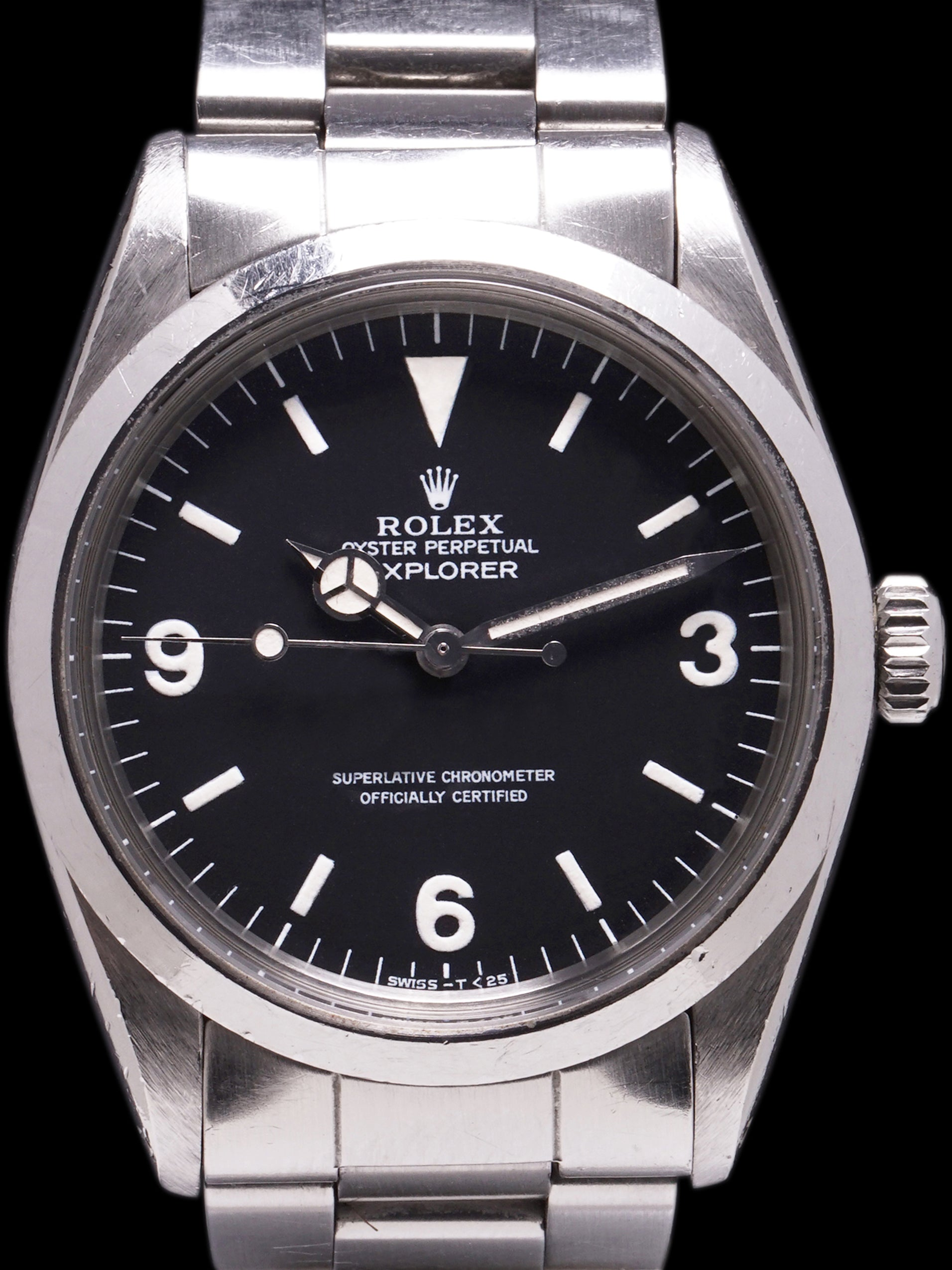*Unpolished* 1984 Rolex Explorer I (Ref. 1016) W/ Box & Booklet