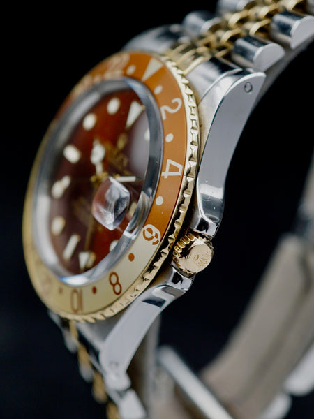 "1987 Rolex Two Tone GMT Master (Ref. 16753) ""Root Beer"""