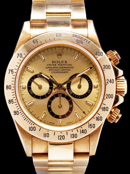 1997 Rolex Zenith Daytona (Ref. 16528) 18k YG Unpolished Box and Papers