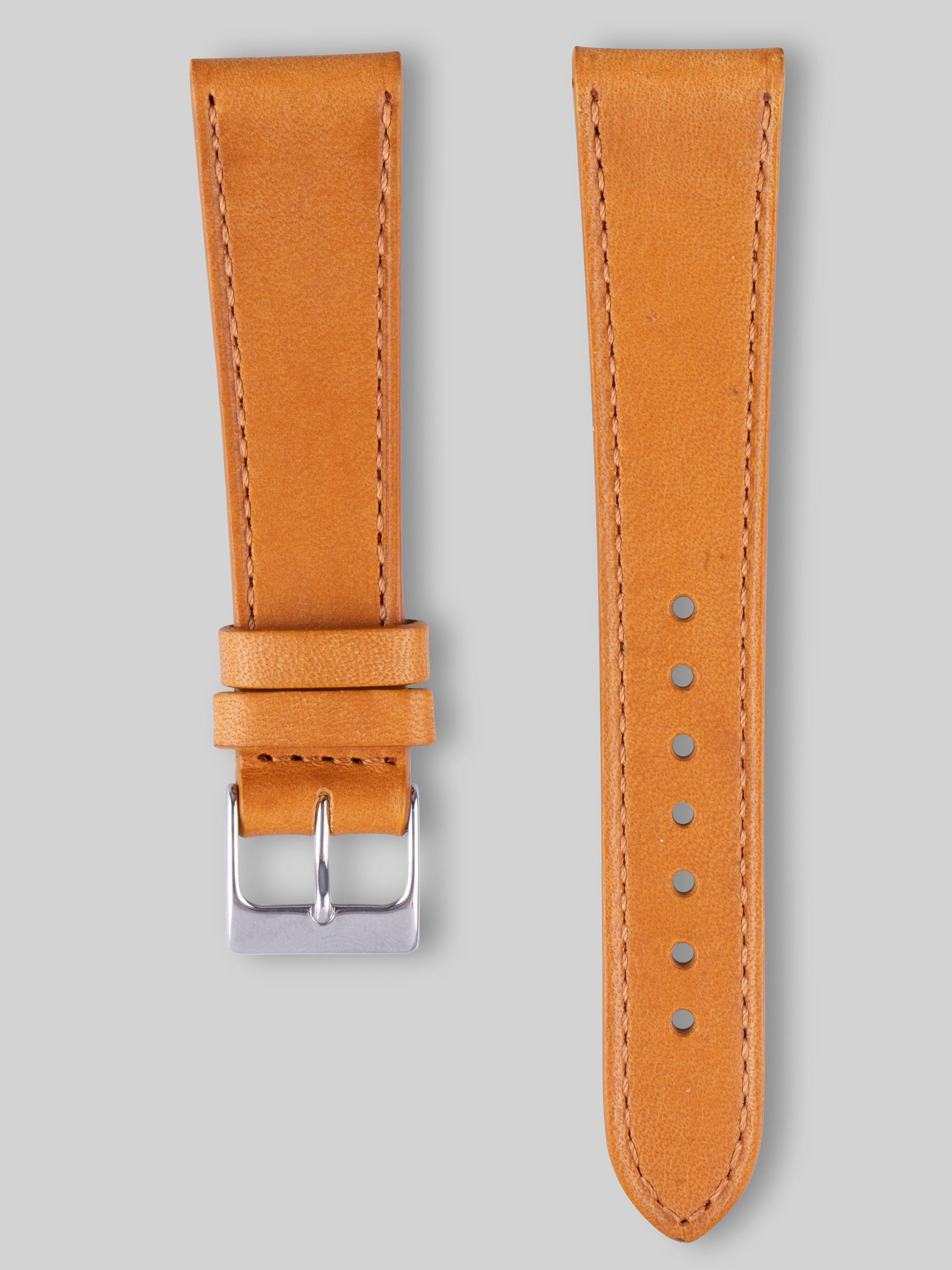 Smooth Calfskin Watch Strap - Oak
