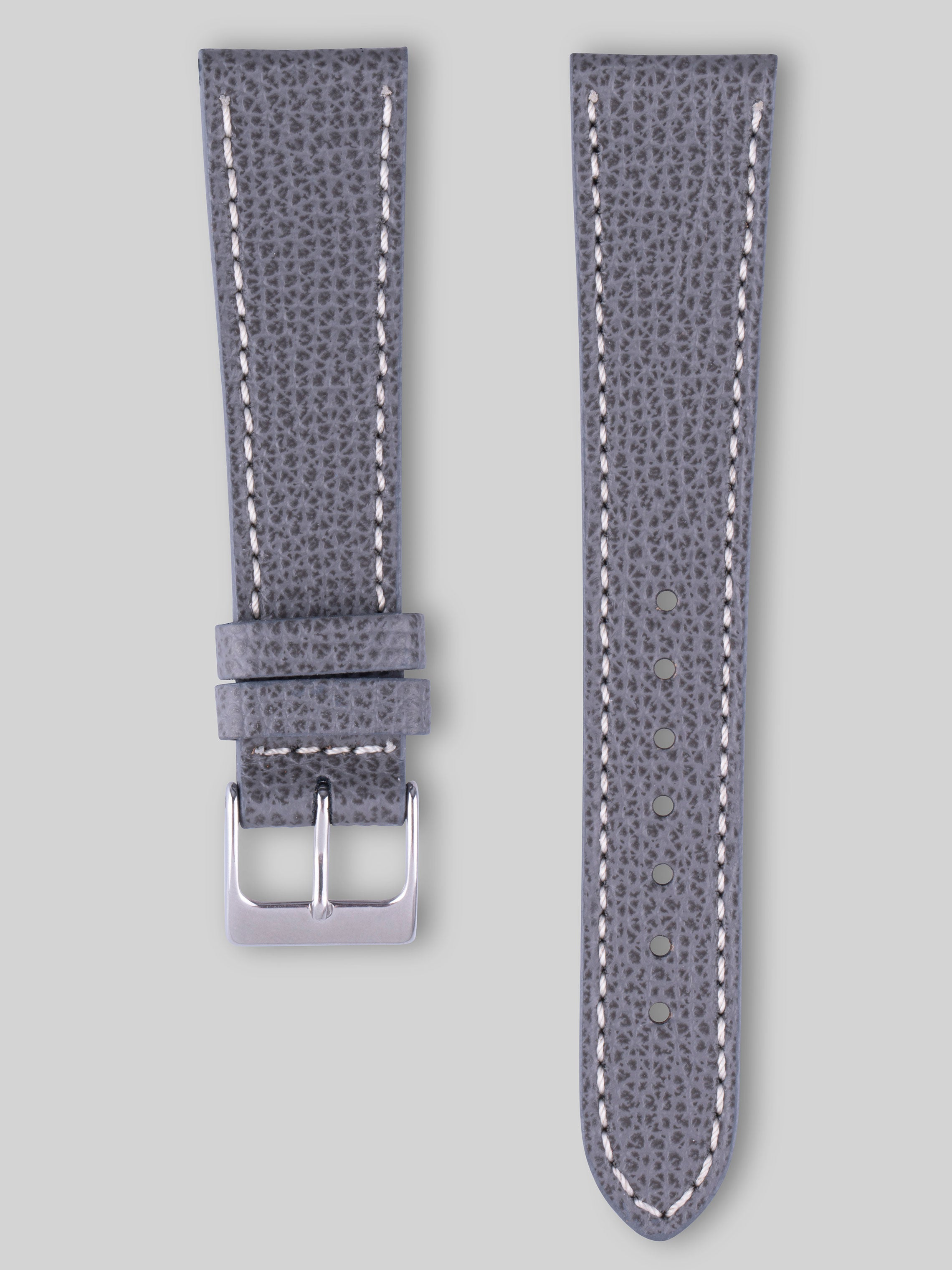 Textured Calfskin Watch Strap - Carbon