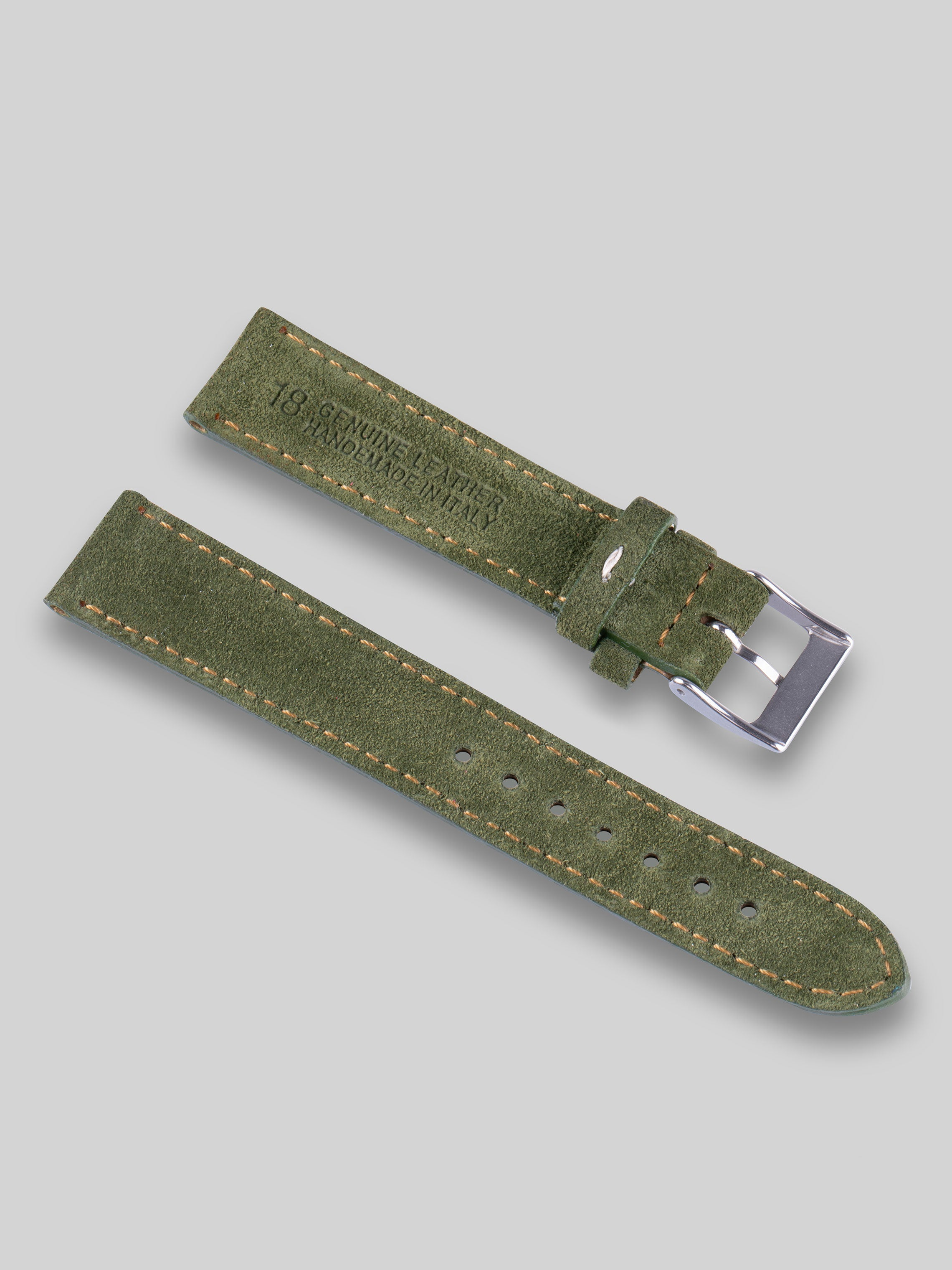 Suede Watch Strap - Swedish Moss