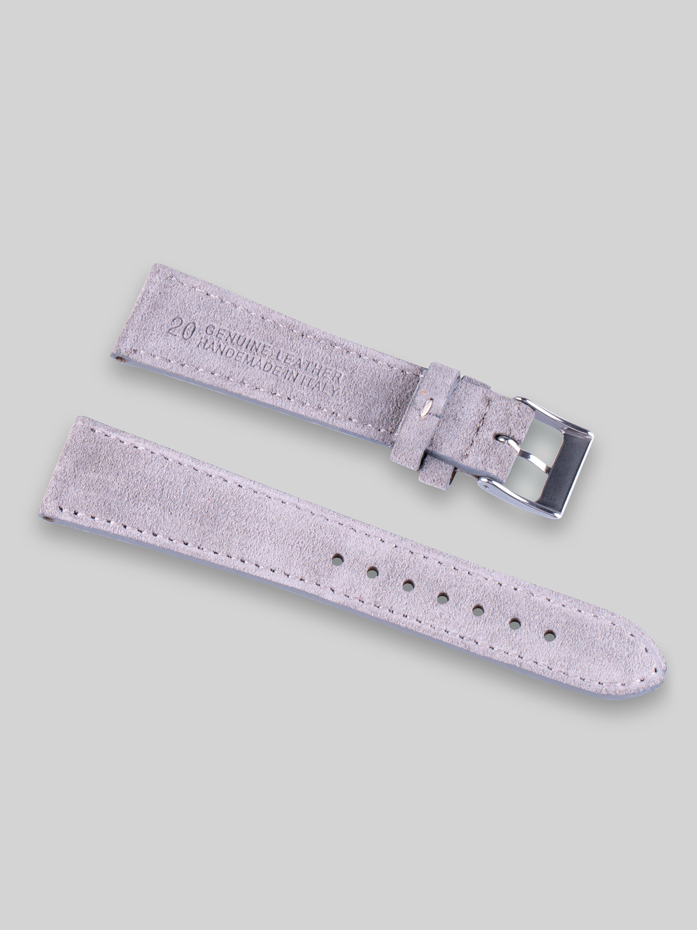 Suede Watch Strap - Platinum