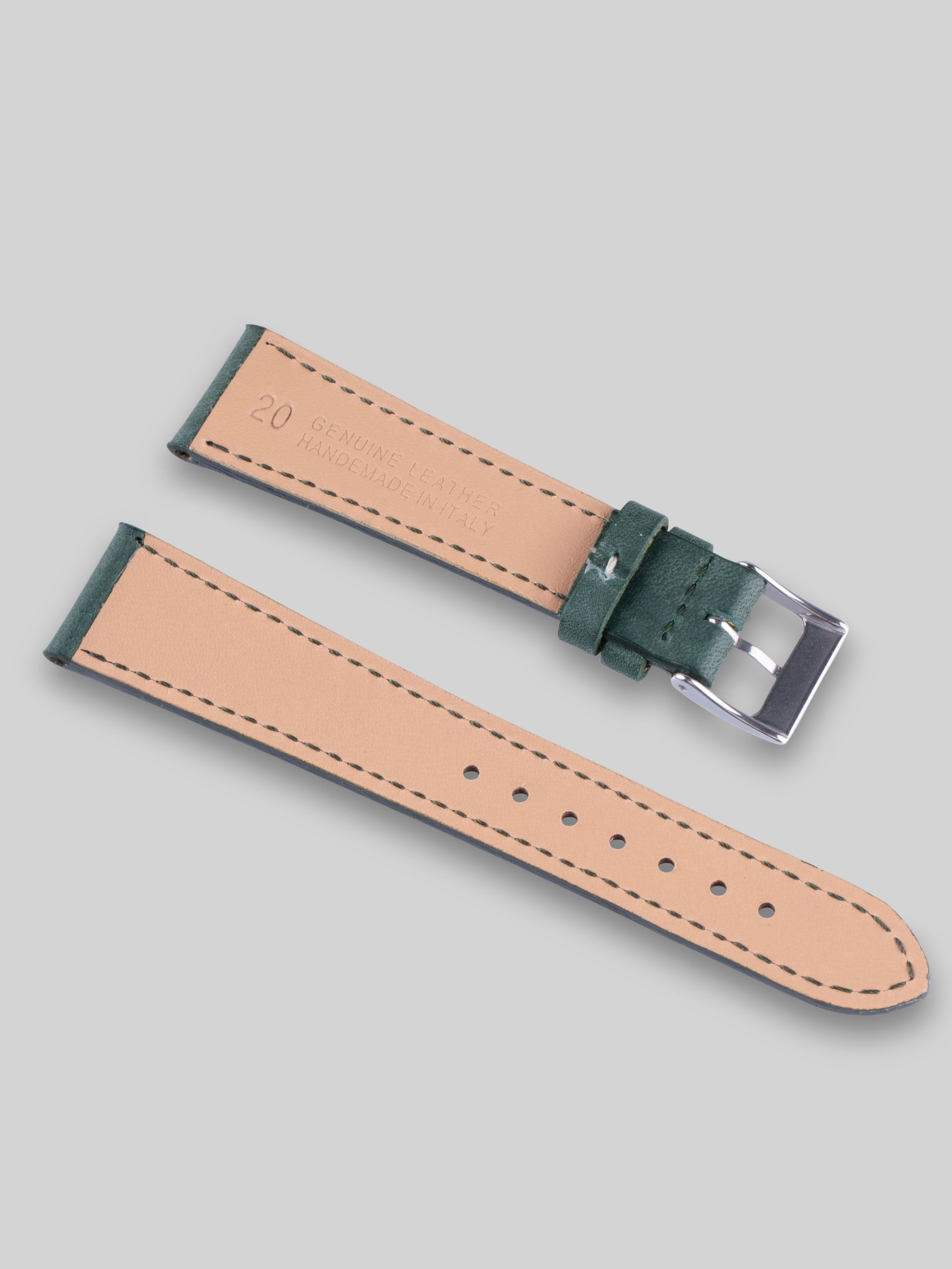Smooth Calfskin Watch Strap - Woodland