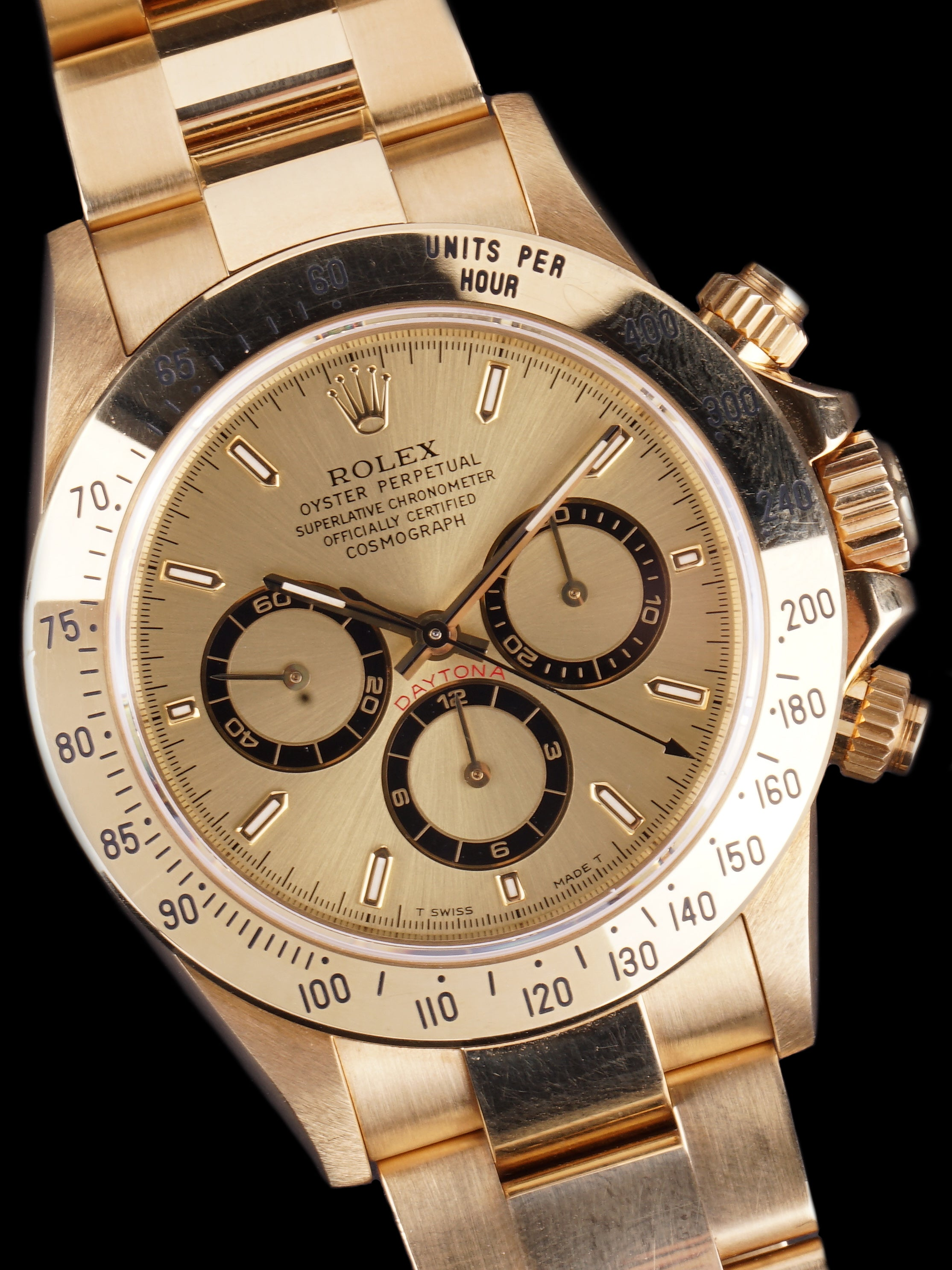 *Like New* Unpolished 1997 Rolex Zenith Daytona (Ref. 16528) 18k YG With Box and Papers