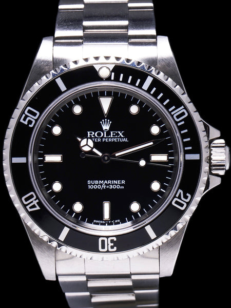 1996 Rolex Submariner (Ref. 14060) With Service Card