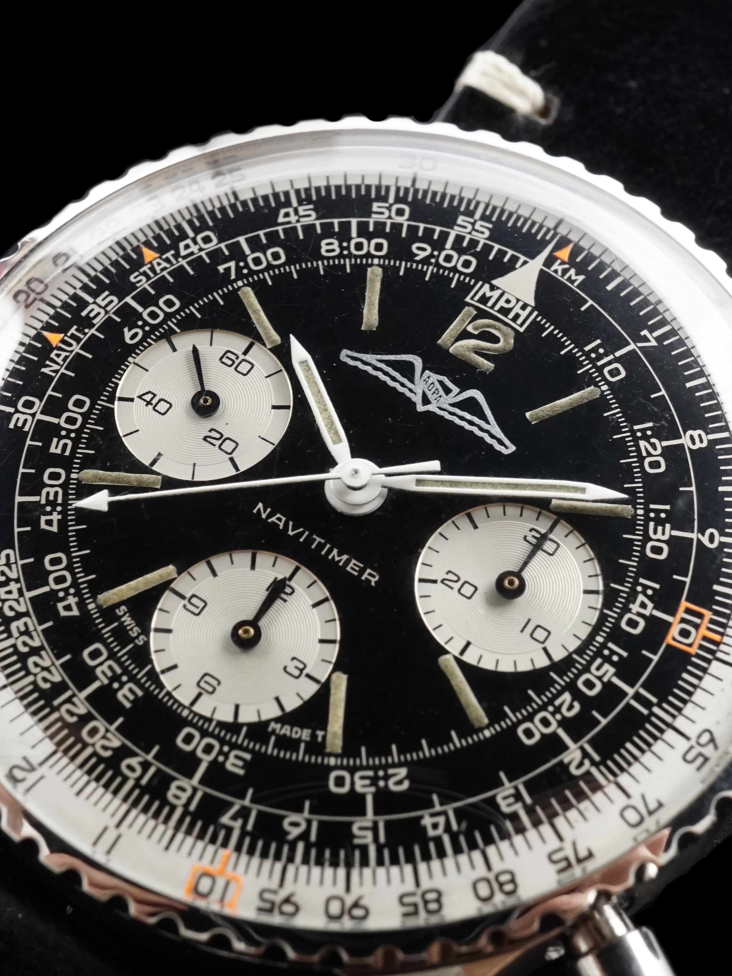 1967 Breitling Navitimer (Ref. 806) AOPA Gilt Dial With Box and Papers
