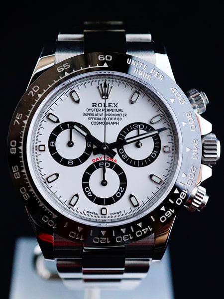 2016 Rolex Ceramic Daytona 116500LN White Dial with Box and Papers