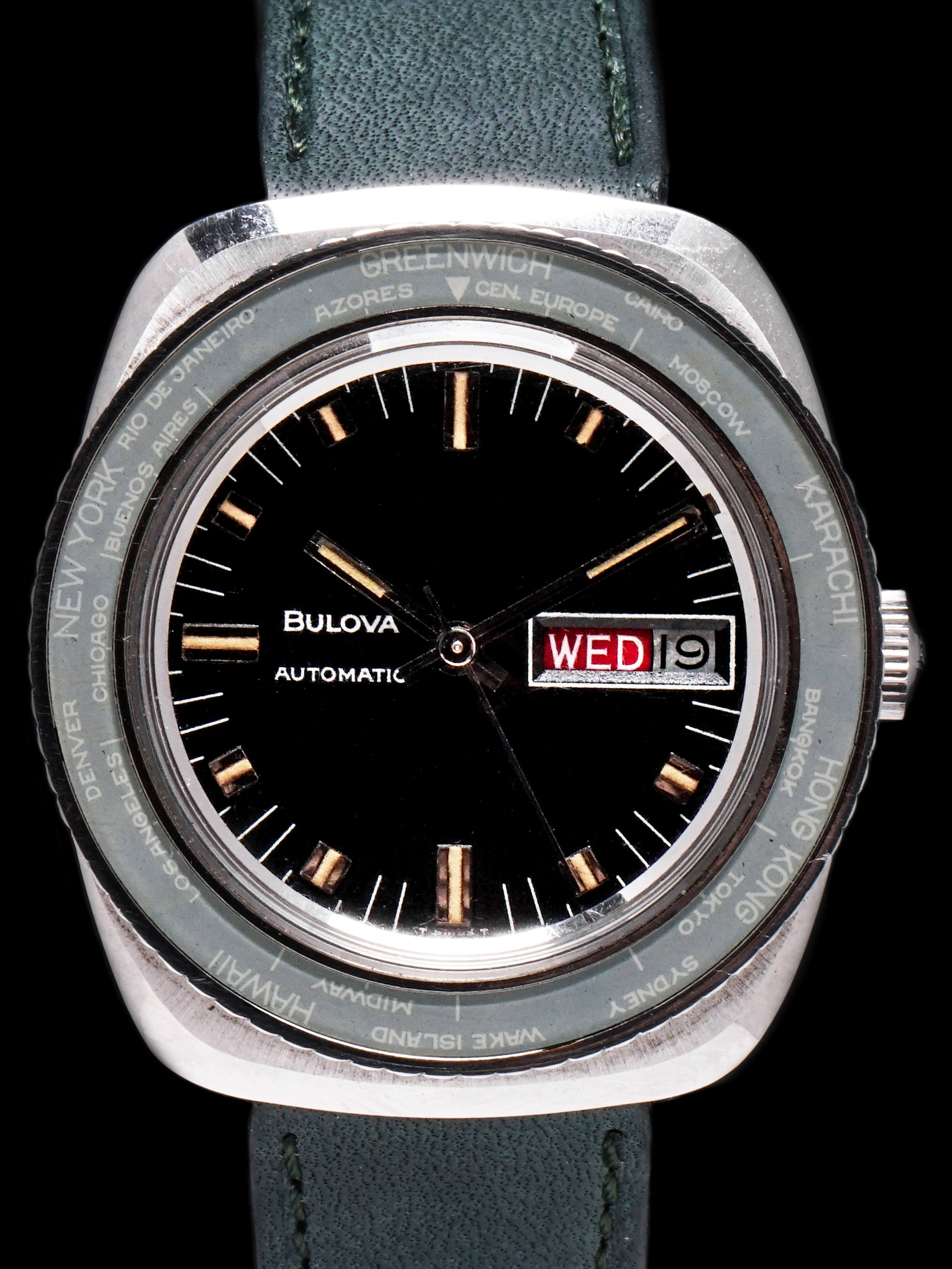 1969 Bulova SkyStar World Time (Ref. 761) Black Dial