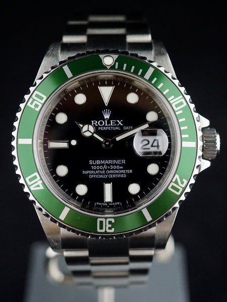 2008 Rolex Green Submariner (Ref. 16610LV) (MARK VII Dial)