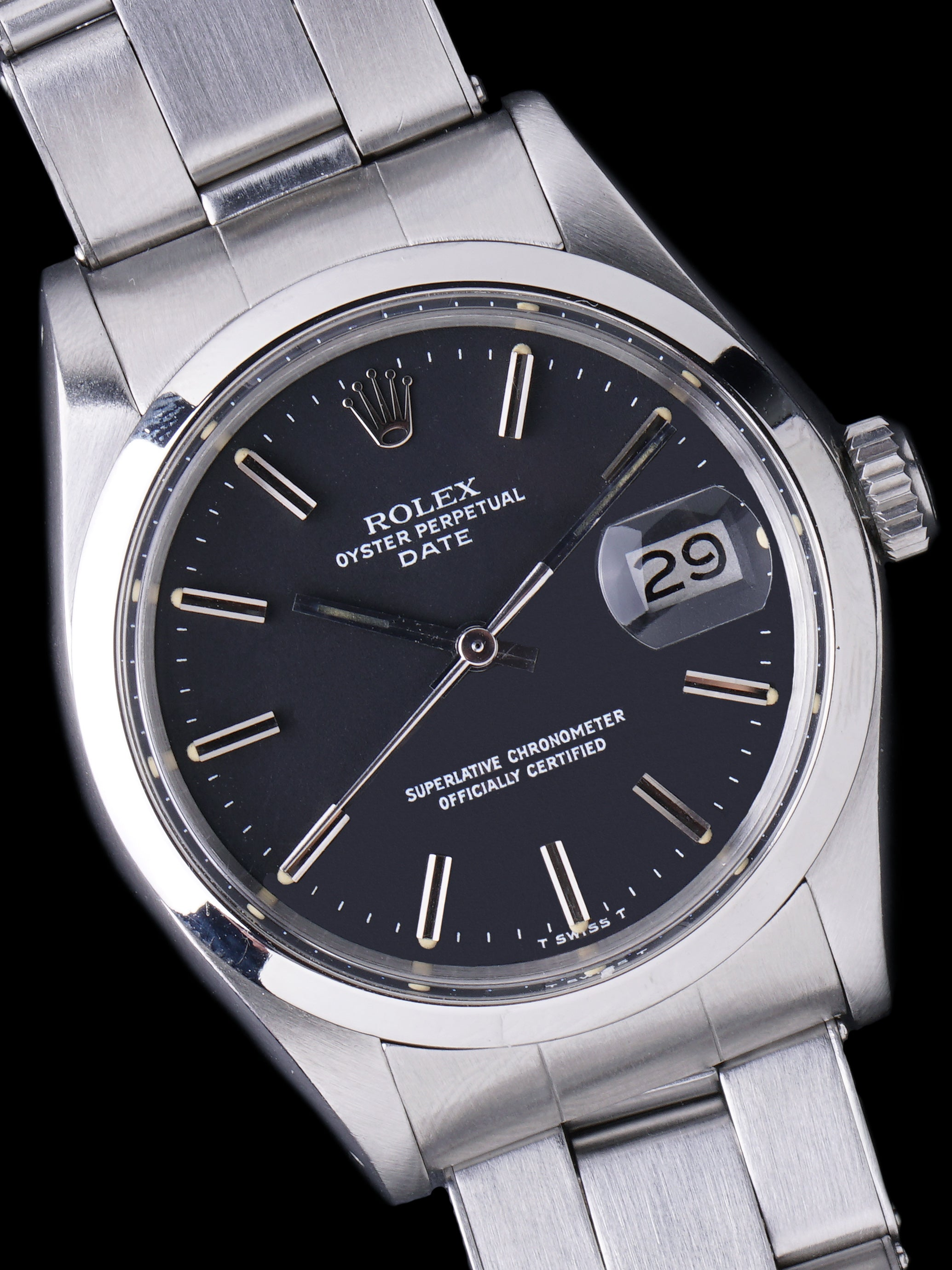 "1973 Rolex Oyster-Perpetual Date (Ref. 1500) ""Black Dial"""