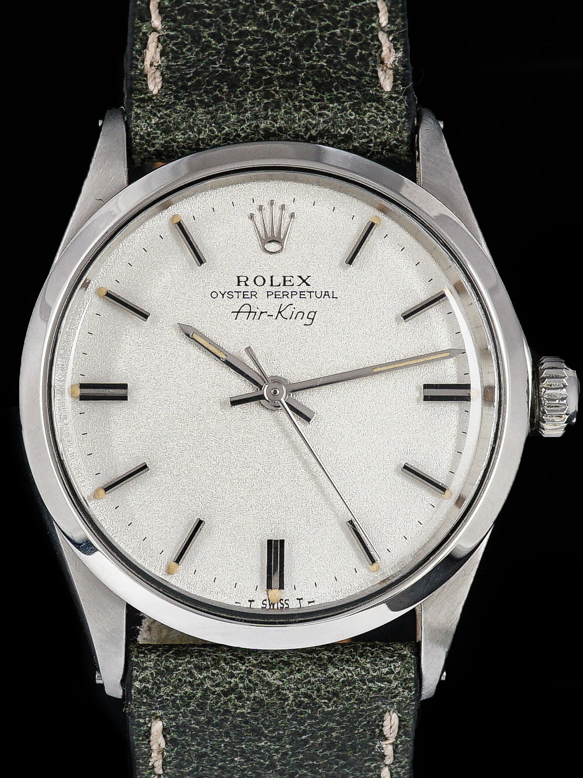 "1970 Rolex Air-King (Ref. 5500) ""Rare Metalic Silver Dial"""