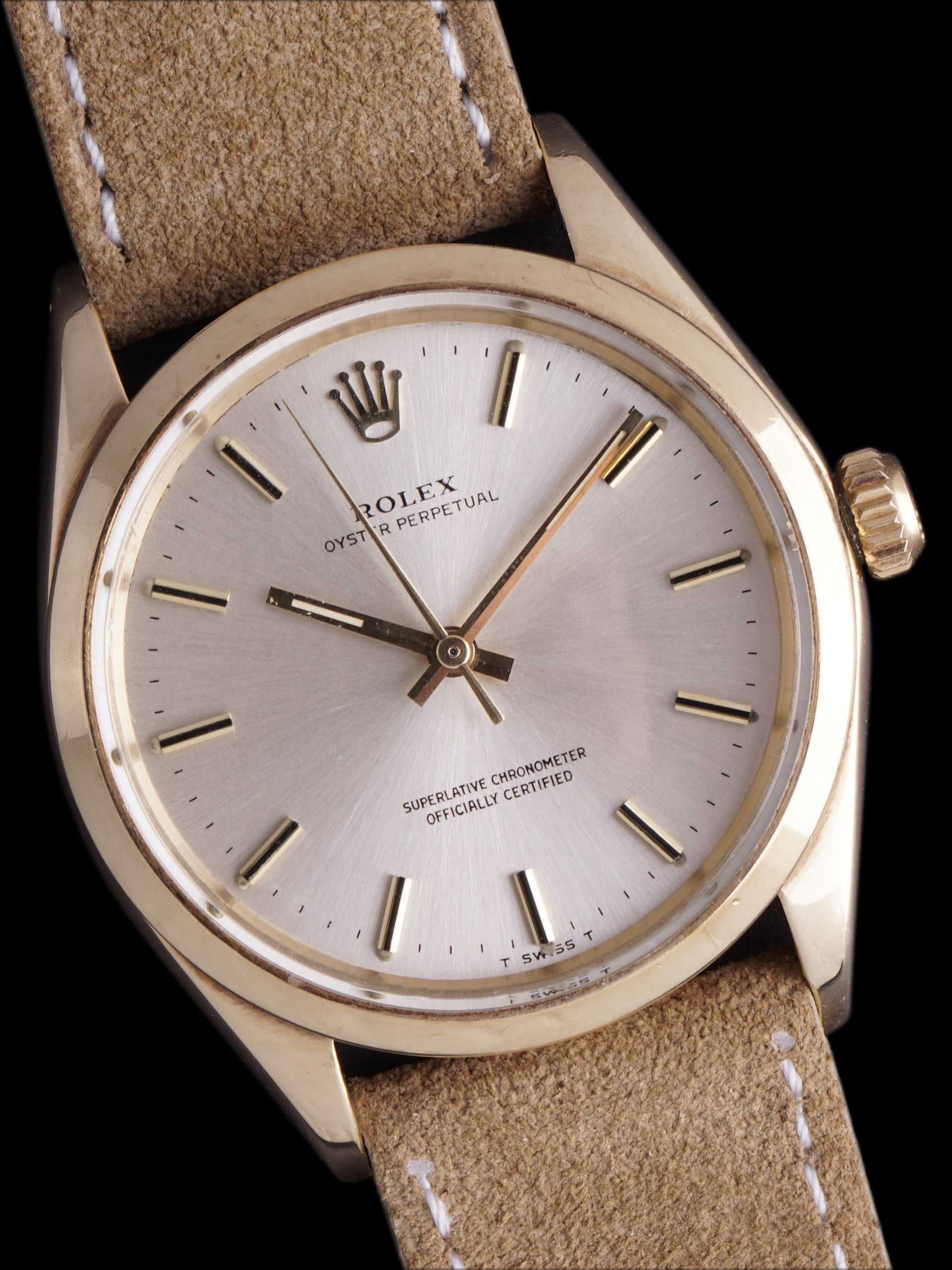 "1971 Rolex Oyster-Perpetual (Ref. 1002) 14k YG ""Coca-Cola"" W/ Double Punch Papers"