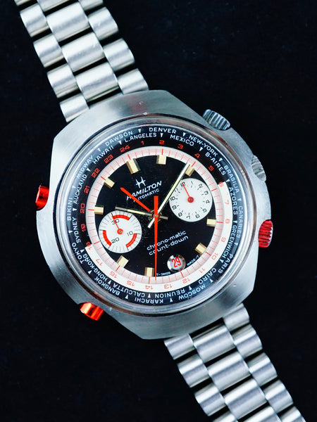 Rare 1970 Hamilton Count-Down GMT Chrono-Matic