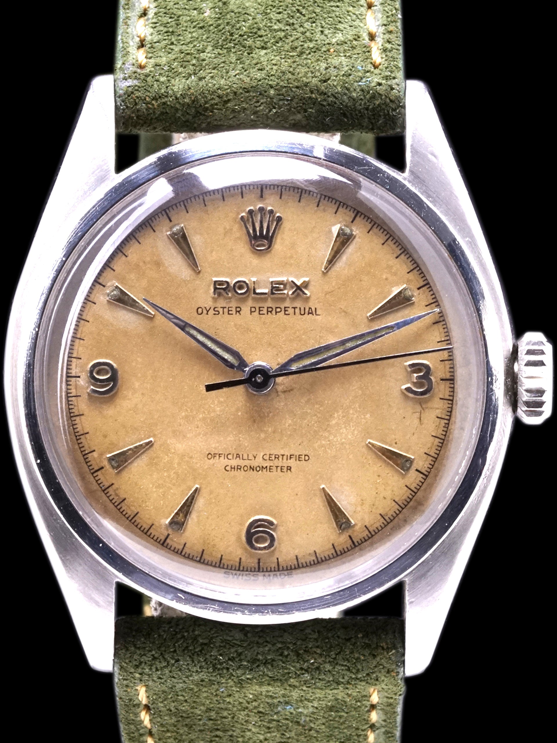 "1952 Rolex Oyster-Perpetual (Ref. 6084) Explorer Dial ""Big Bubble Back"""