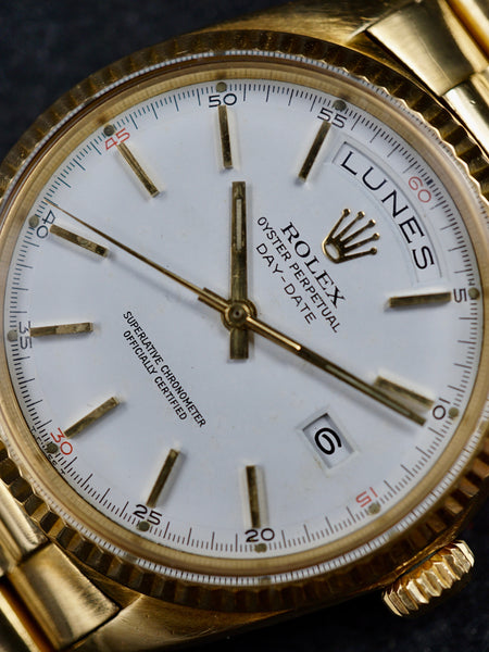 Rare 1968 Rolex Day-Date (Ref. 1803)  'Red Quarter Dial'